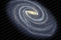 digital illustration of the milky way