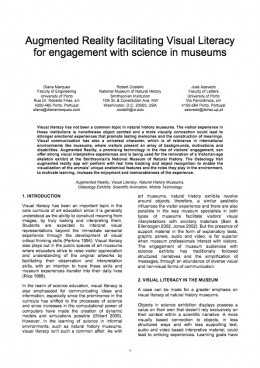 "image of the article ""Augmented Reality Facilitating Visual Literacy for Engagement with Science in Museums'"