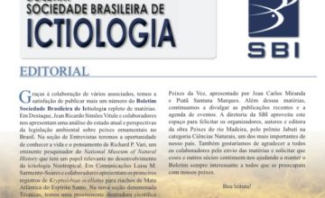 image of the cover of the bulletin of the Brazilian Society of Ichthyology