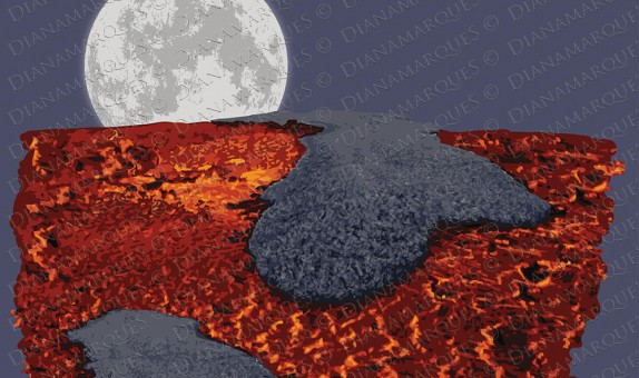 digital illustration of the formation of Earth's Crust