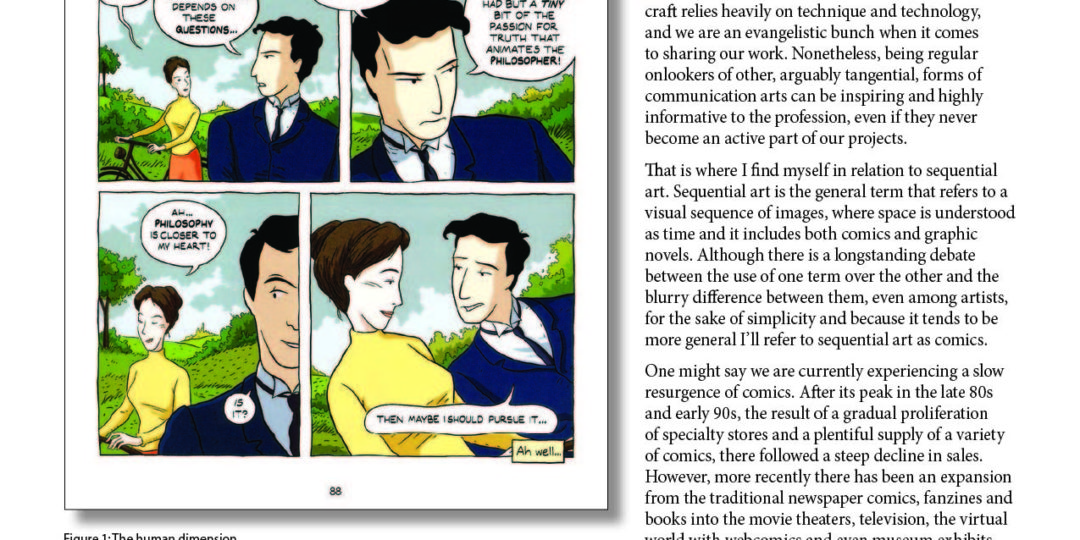 page of GNSI Journal with science comics article