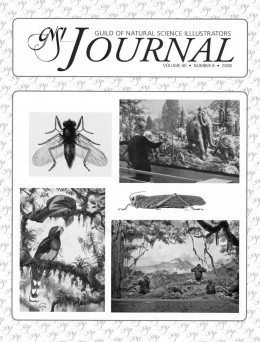 image of the cover of the Guild of Natural Science Illustrators Journal