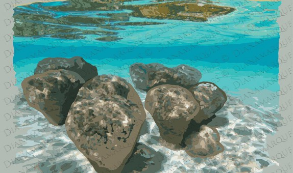 digital illustration of stromatolites