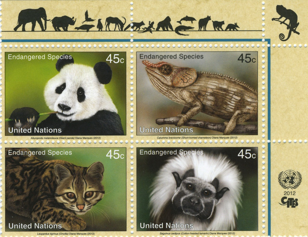 United Nations Endangered Species Stamps