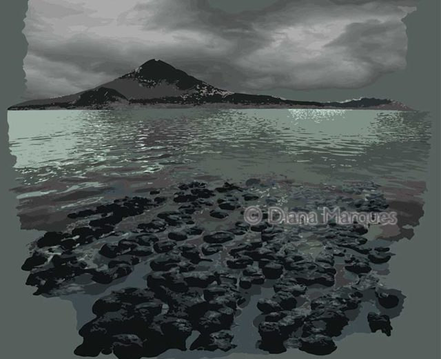 digital illustration of Earth's primitive landscape © Diana Marques