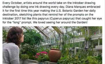 U.S.Botanic Garden Facebook post