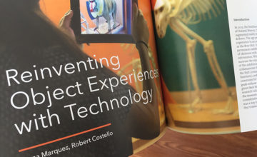 first page of article about object experiences on the Exhibition Journal